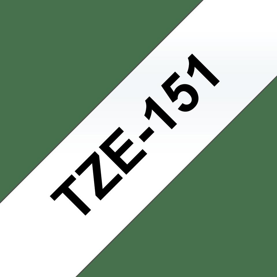 Brother TZe-151 Schriftband – schwarz auf transparent 3