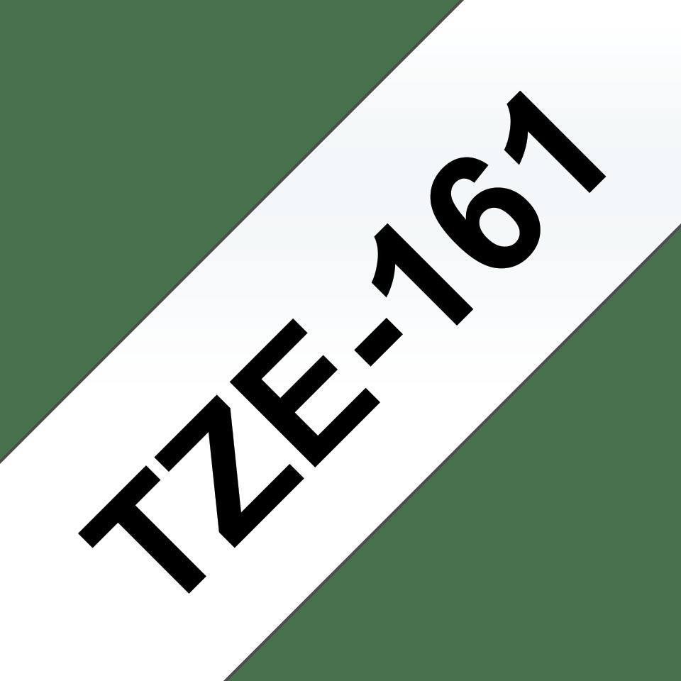 Brother TZe-161 Schriftband – schwarz auf transparent 2