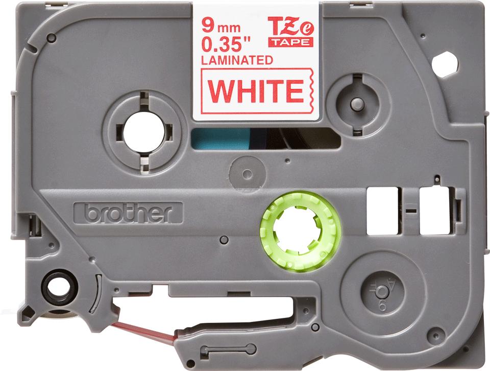 Brother TZe-222 Schriftband – rot auf weiß 0