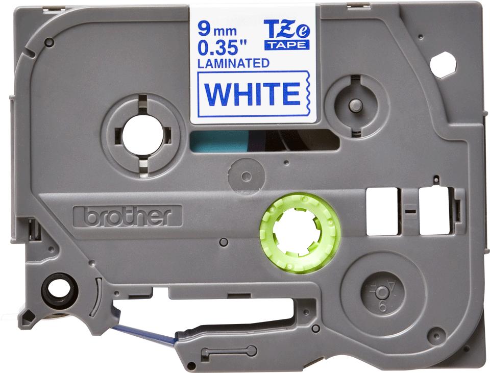Brother TZe-223 Schriftband – blau auf weiß