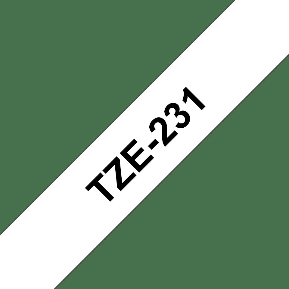 Brother TZe-231 Schriftband – schwarz auf weiß