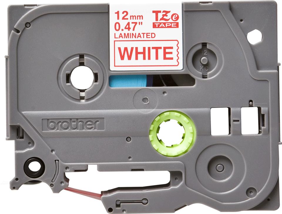 Brother TZe-232 Schriftband – rot auf weiß 3