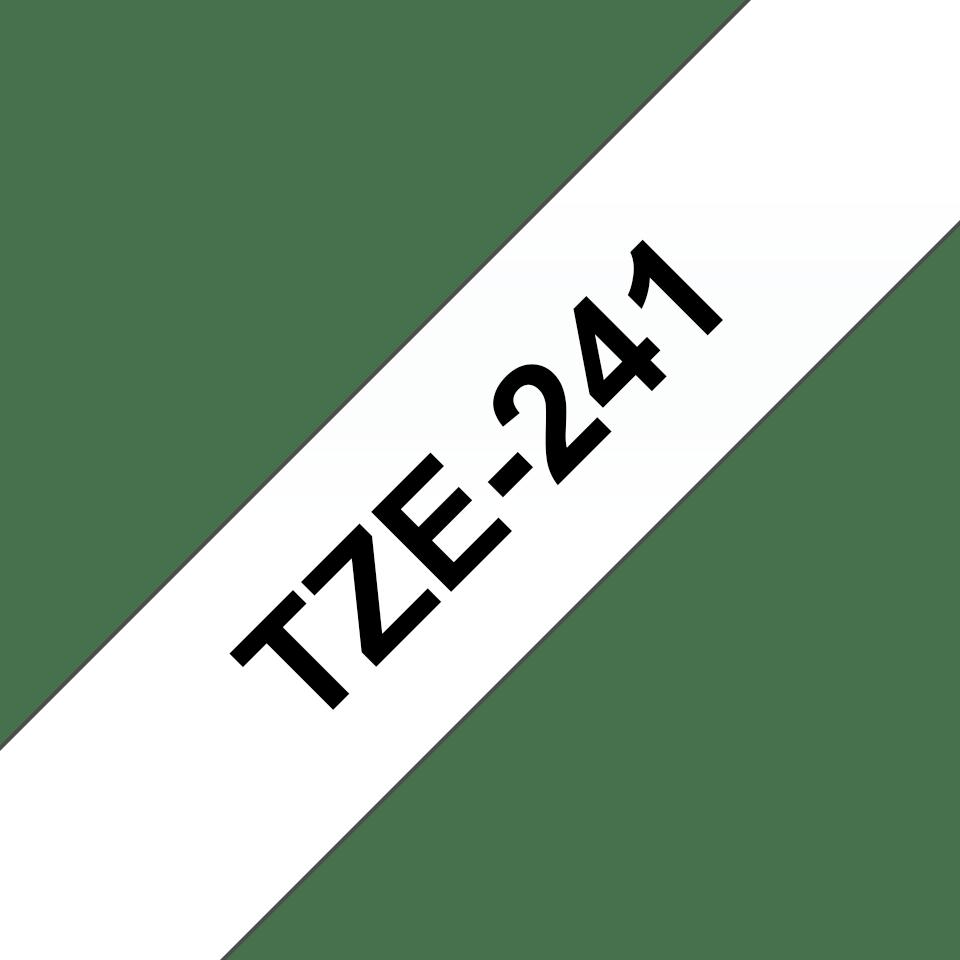 Brother TZe-241 Schriftband – schwarz auf weiß 3