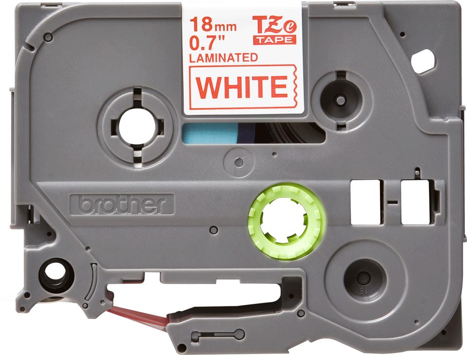 Brother TZe-242 Schriftband – rot auf weiß