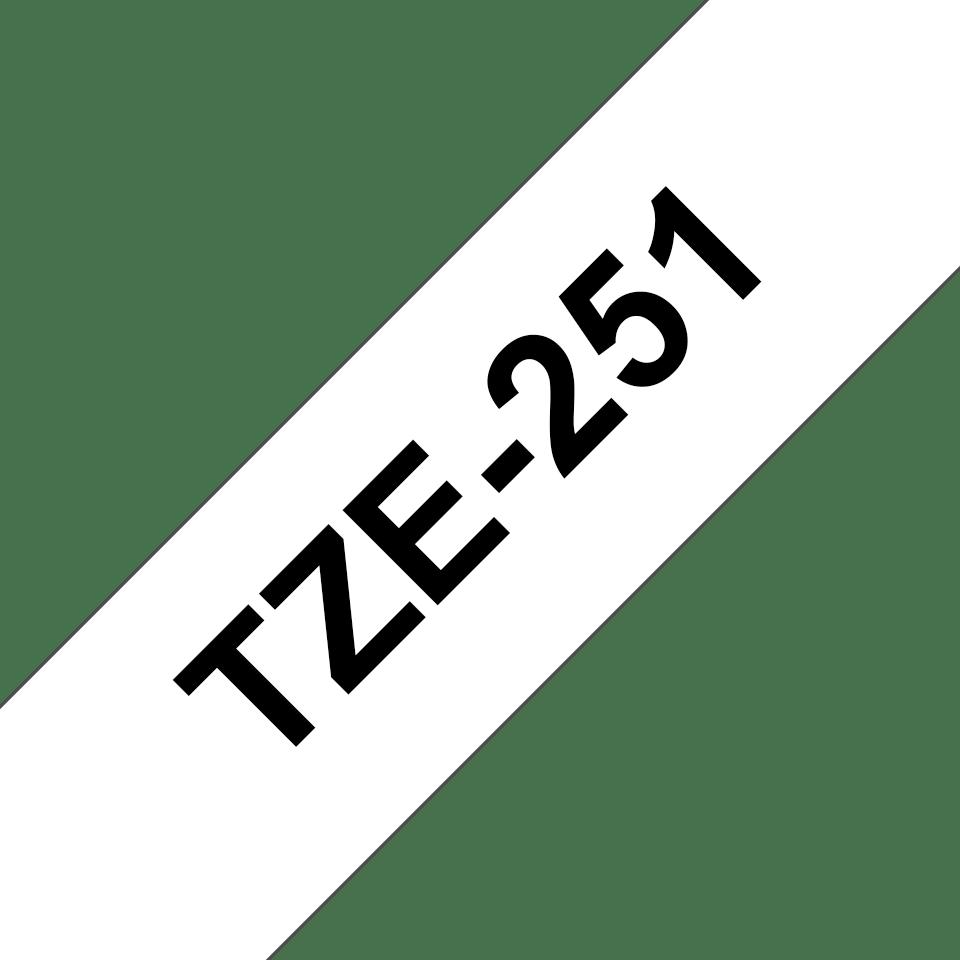 Brother TZe-251 Schriftband – schwarz auf weiß 2