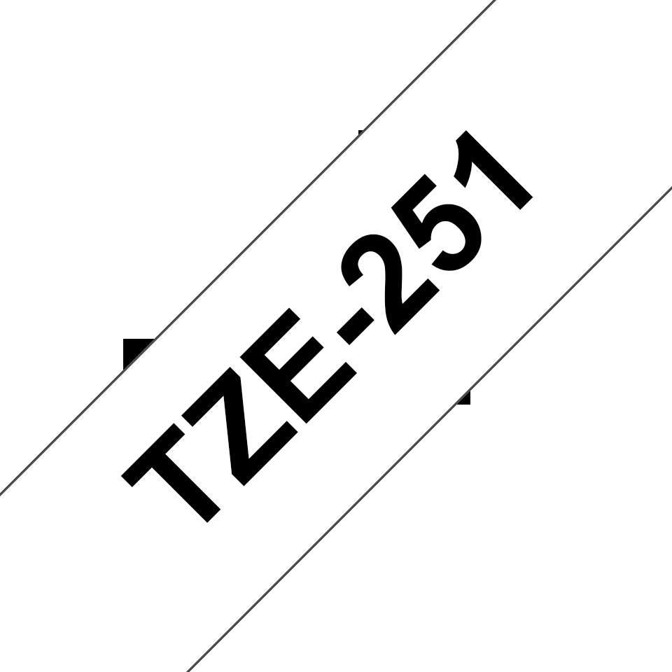 Brother TZe-251 Schriftband – schwarz auf weiß 3
