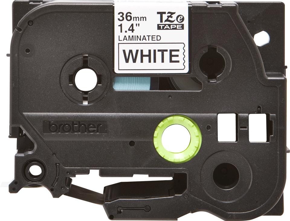 Brother TZe-261 Schriftband – schwarz auf weiß 0