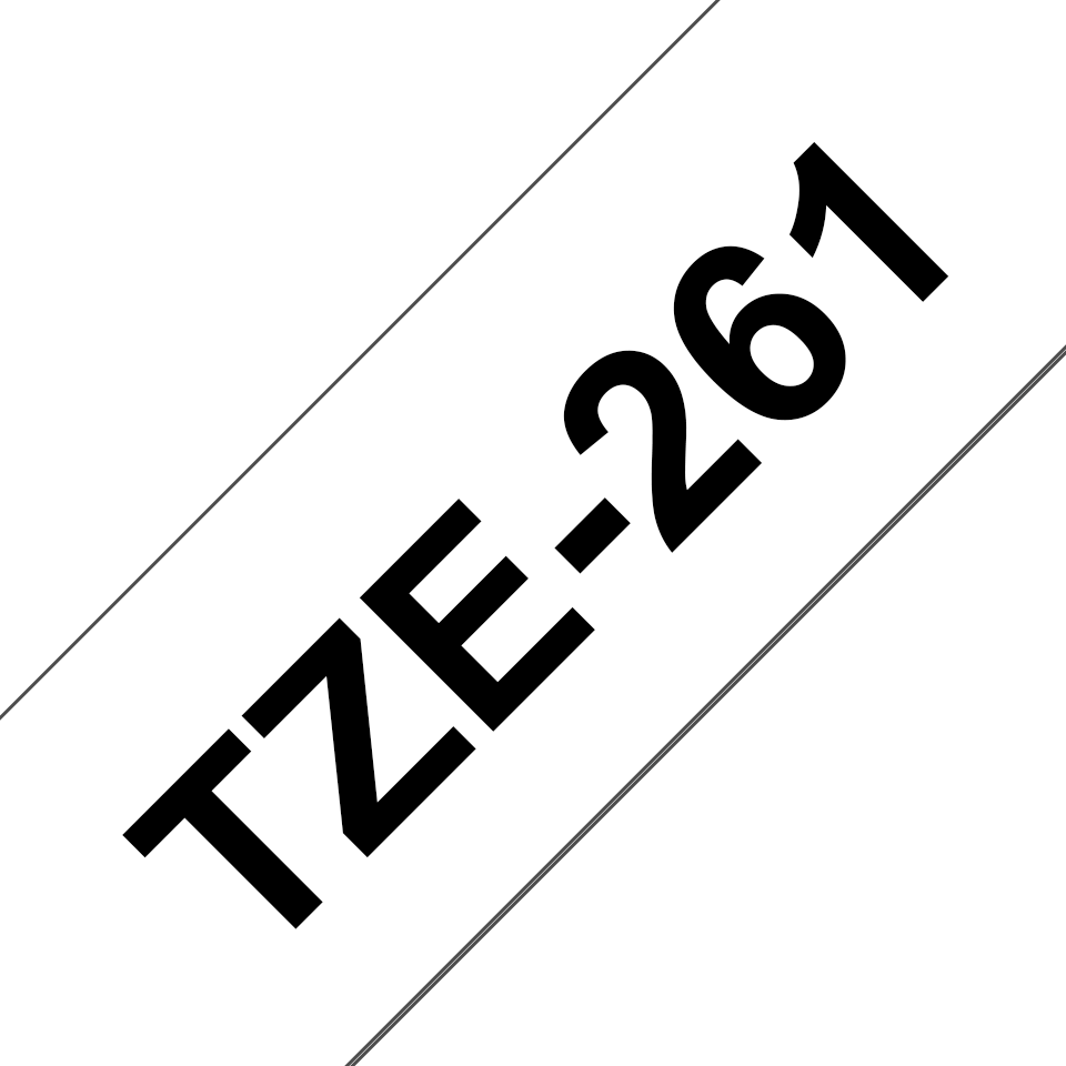 Brother TZe-261 Schriftband – schwarz auf weiß 2