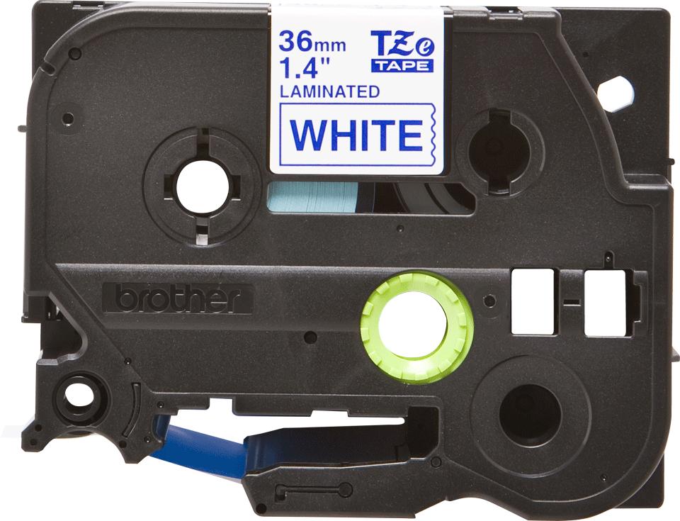Brother TZe-263 Schriftband – blau auf weiß 3