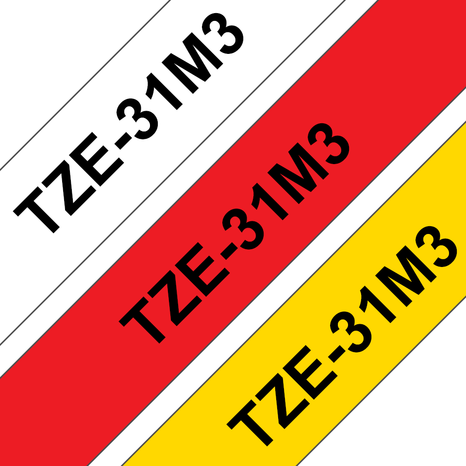 Brother TZe-31M3 Schriftband-Multipack 2