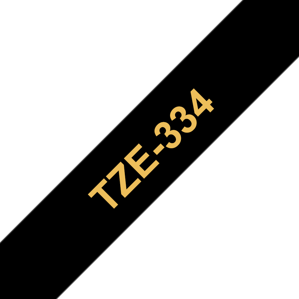 Brother TZe-334 Schriftband – gold auf schwarz 2