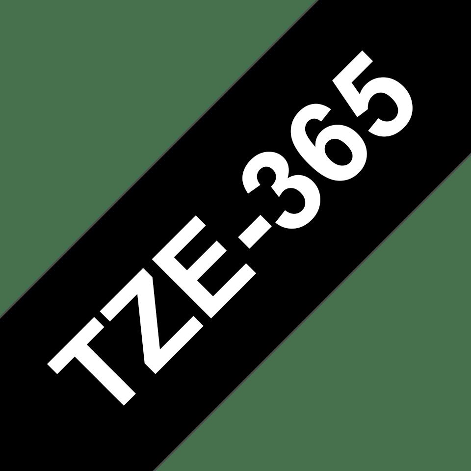 Brother TZe-365 Schriftband – weiß auf schwarz 2