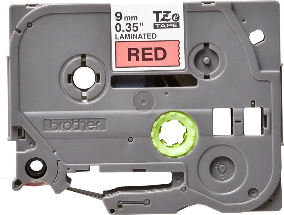 Brother TZe-421 Schriftband – schwarz auf rot 0