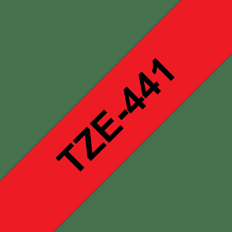 Brother TZe-441 Schriftband – schwarz auf rot 2