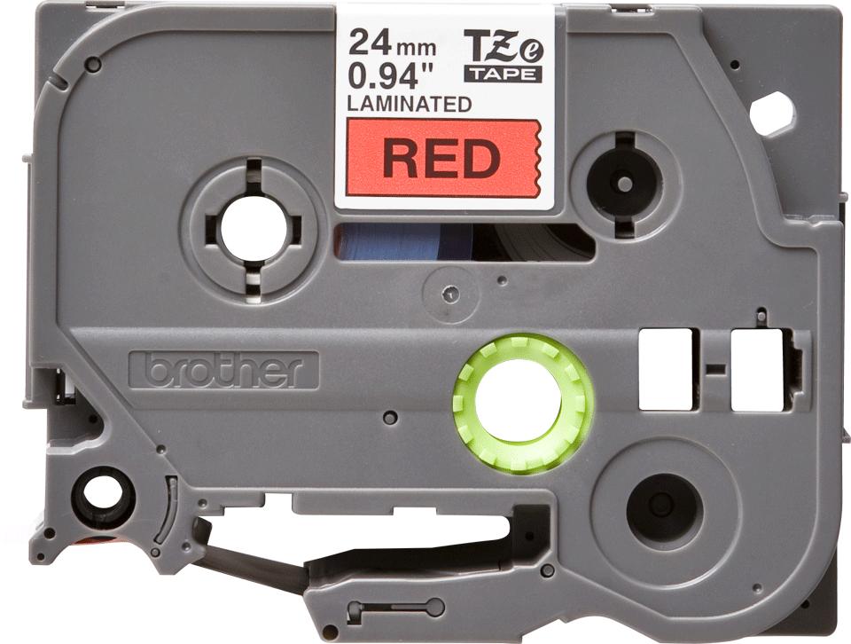Brother TZe-451 Schriftband – schwarz auf rot 3