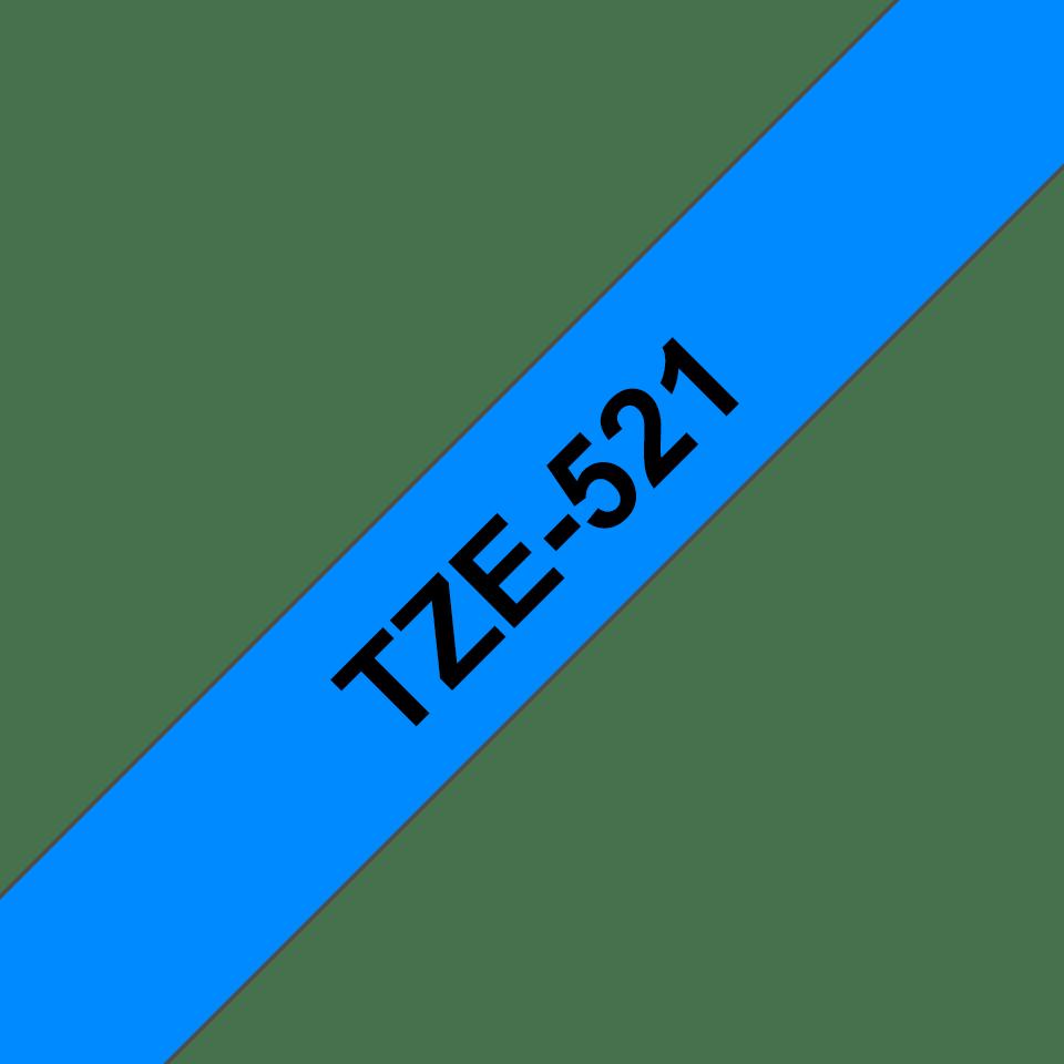 Brother TZe-521 Schriftband – schwarz auf blau 2
