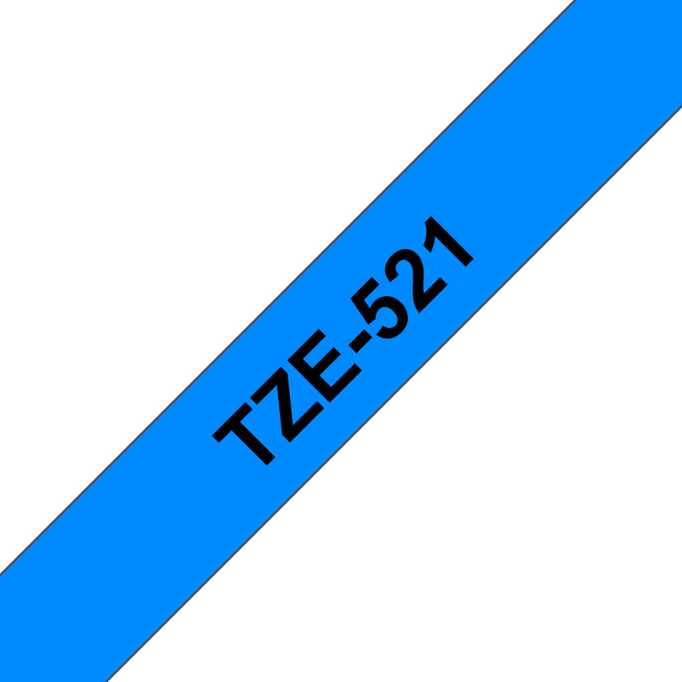 Brother TZe-521 Schriftband – schwarz auf blau 3