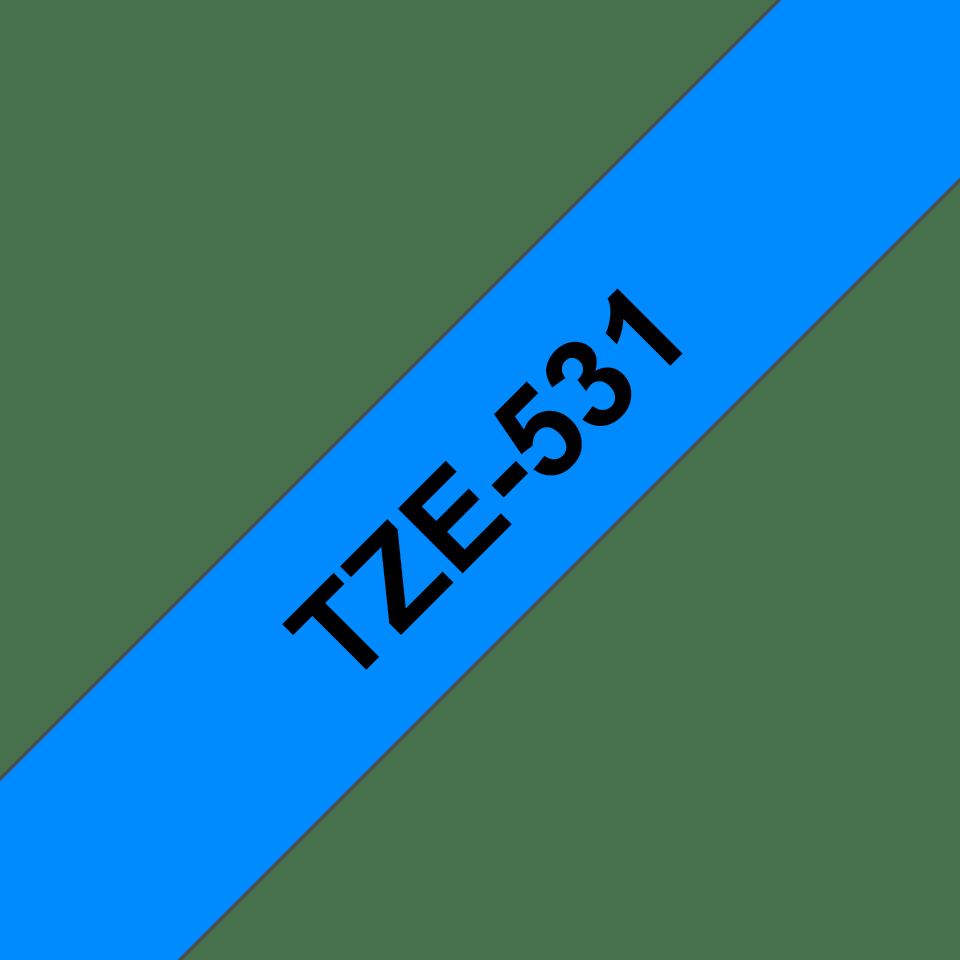 Brother TZe-531 Schriftband – schwarz auf blau 3