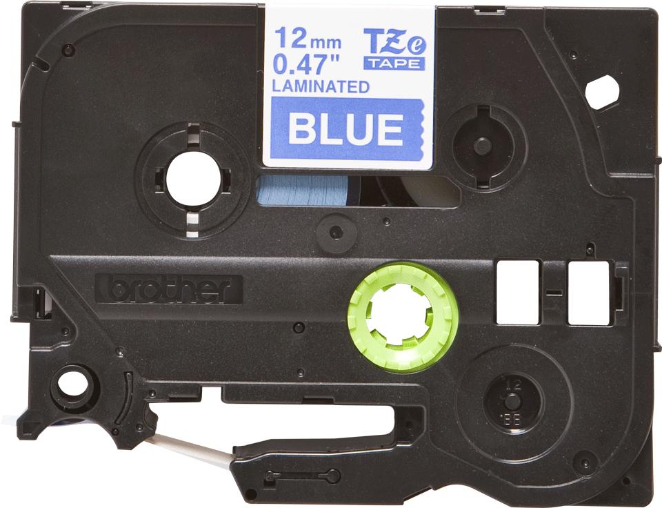 Brother TZe-535 Schriftband – weiß auf blau 3
