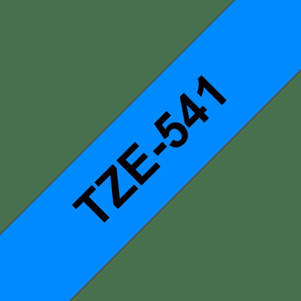 Brother TZe-541 Schriftband – schwarz auf blau 3