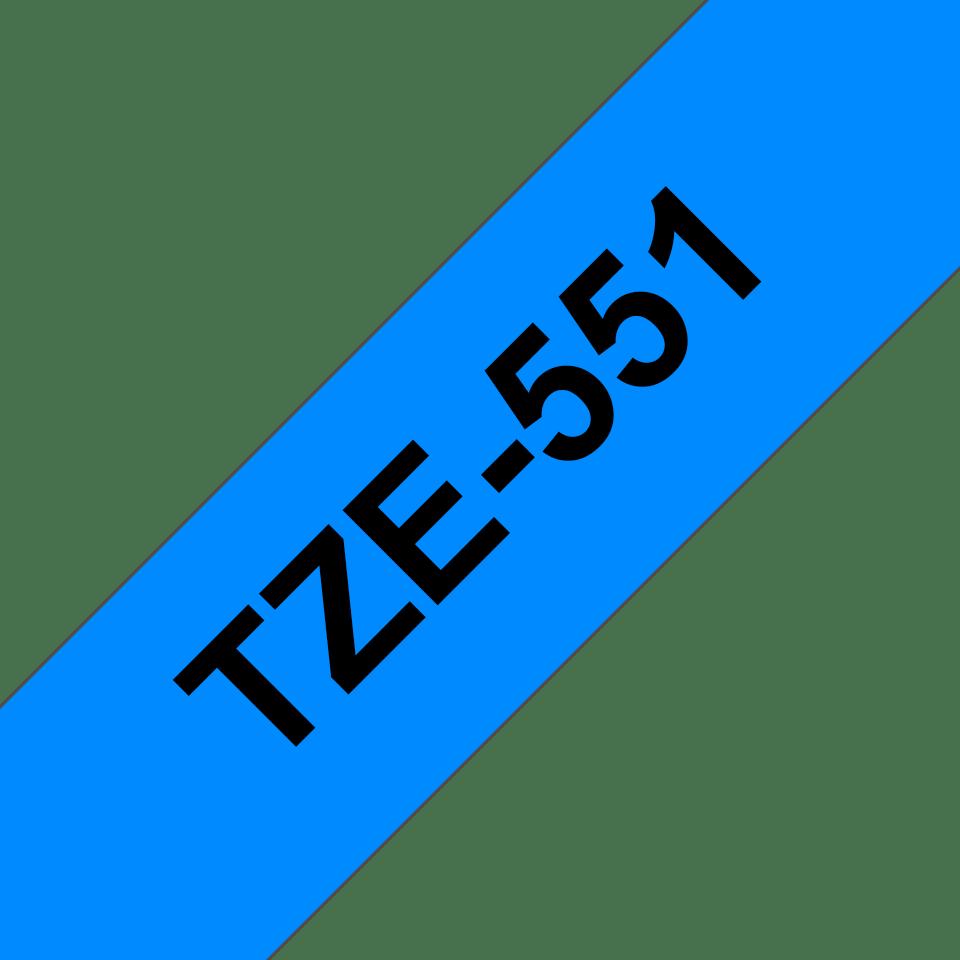 Brother TZe-551 Schriftband – schwarz auf blau 3