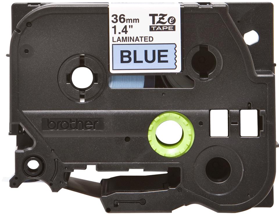 Brother TZe-561 Schriftband – schwarz auf blau 0