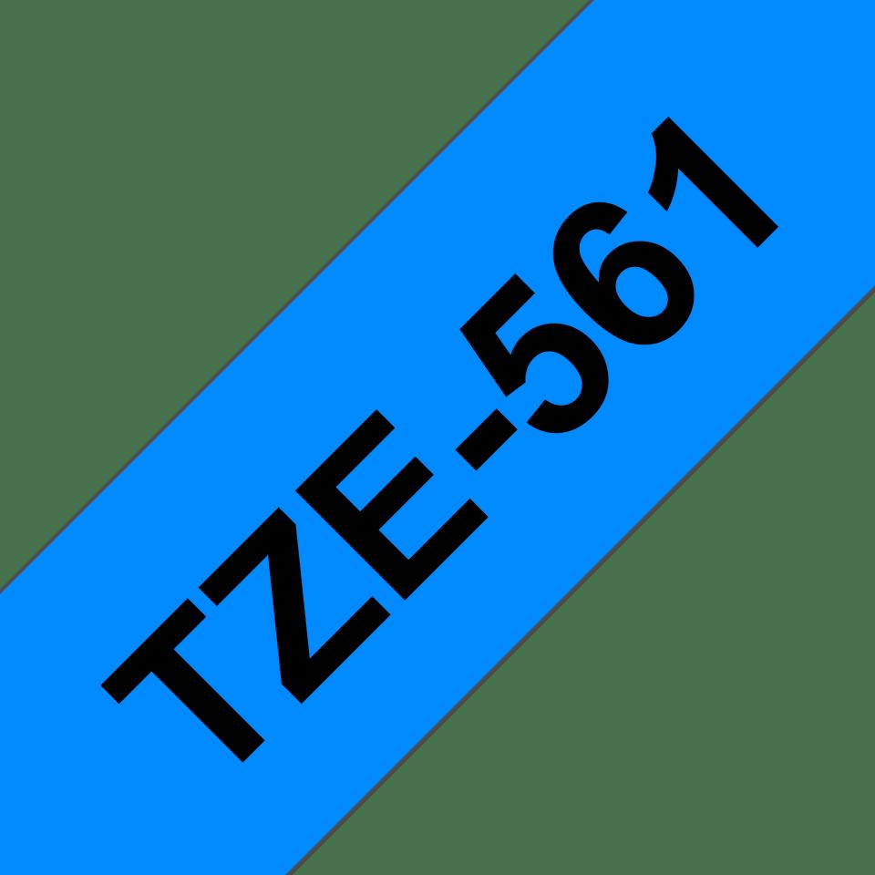 Brother TZe-561 Schriftband – schwarz auf blau 3