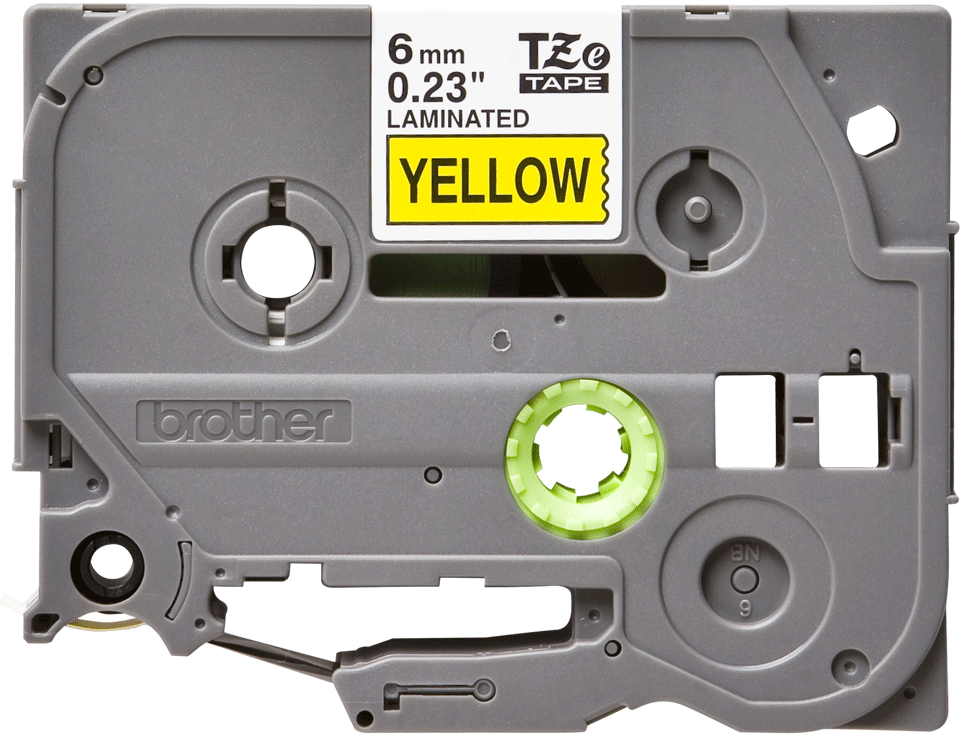 Brother TZe-611 Schriftband – schwarz auf gelb 3