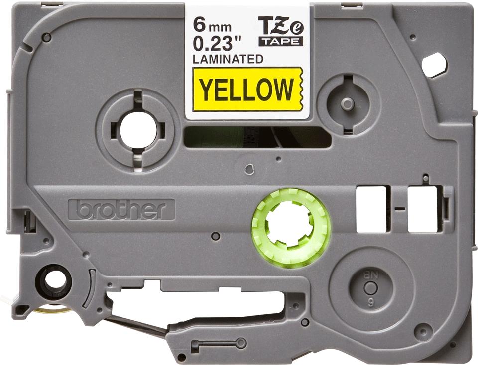 Brother TZe-611 Schriftband – schwarz auf gelb 0