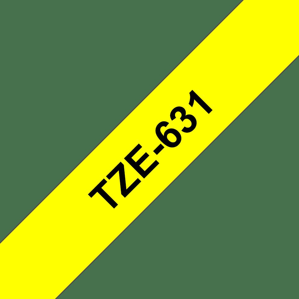 Brother TZe-631 Schriftband – schwarz auf gelb 2