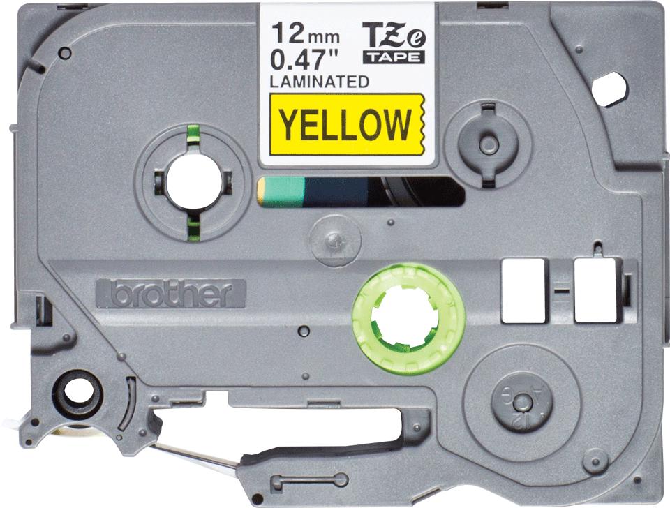Brother TZe-631S Schriftband – schwarz auf gelb