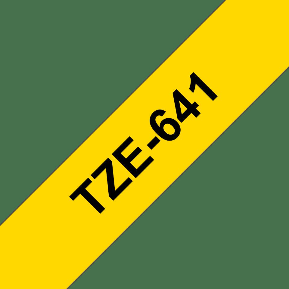 Brother TZe-641 Schriftband – schwarz auf gelb 3