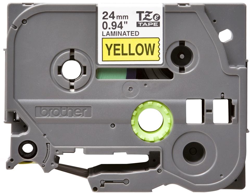 Brother TZe-651 Schriftband – schwarz auf gelb
