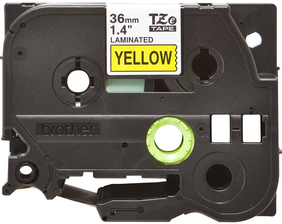 Brother TZe-661 Schriftband – schwarz auf gelb 3