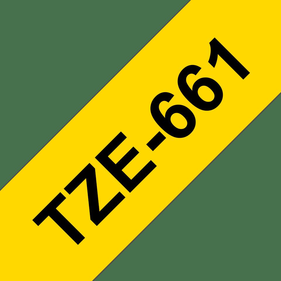 Brother TZe-661 Schriftband – schwarz auf gelb 2