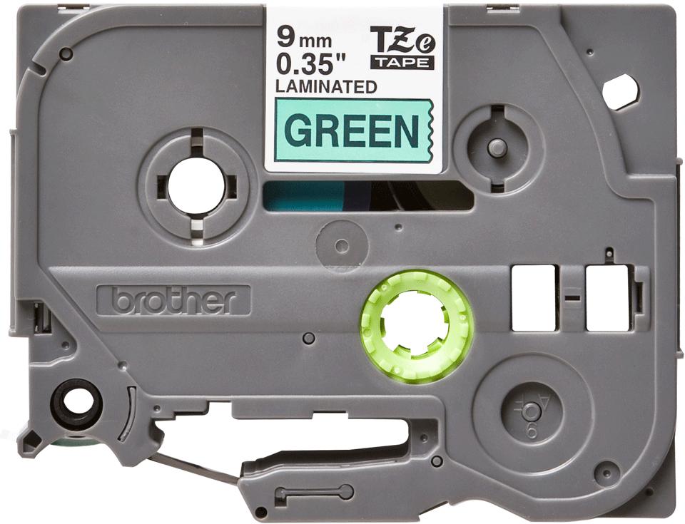 Brother TZe-721 Schriftband – schwarz auf grün