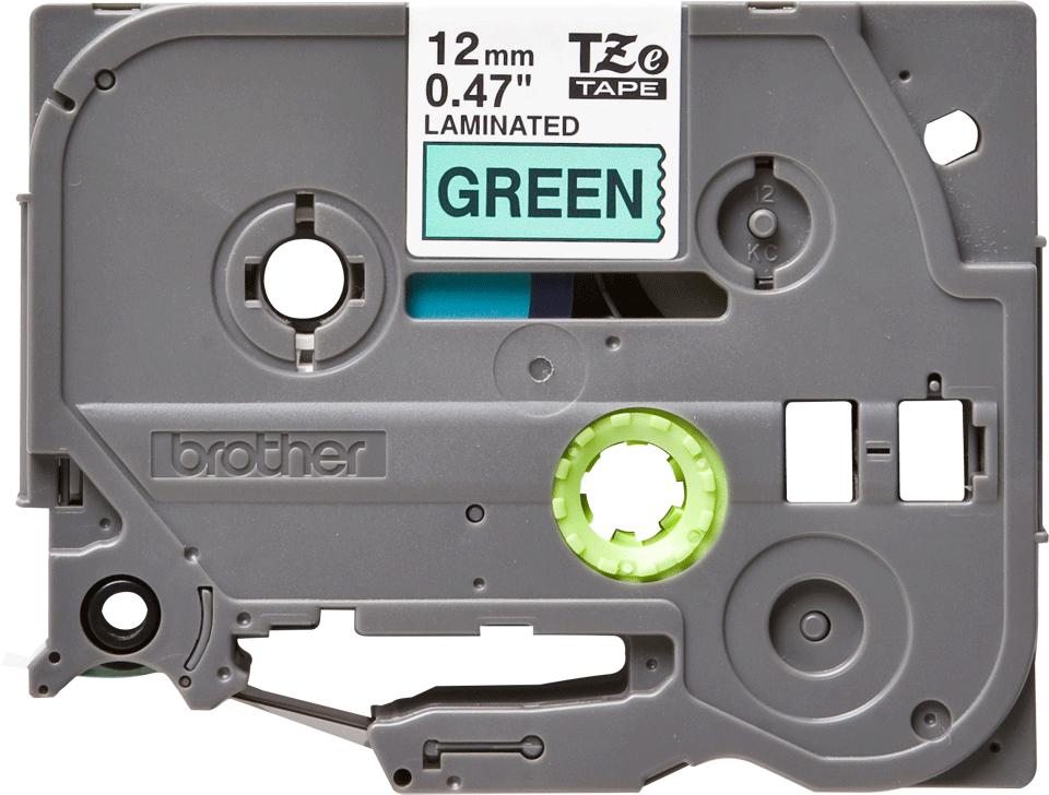 Brother TZe-731 Schriftband – schwarz auf grün
