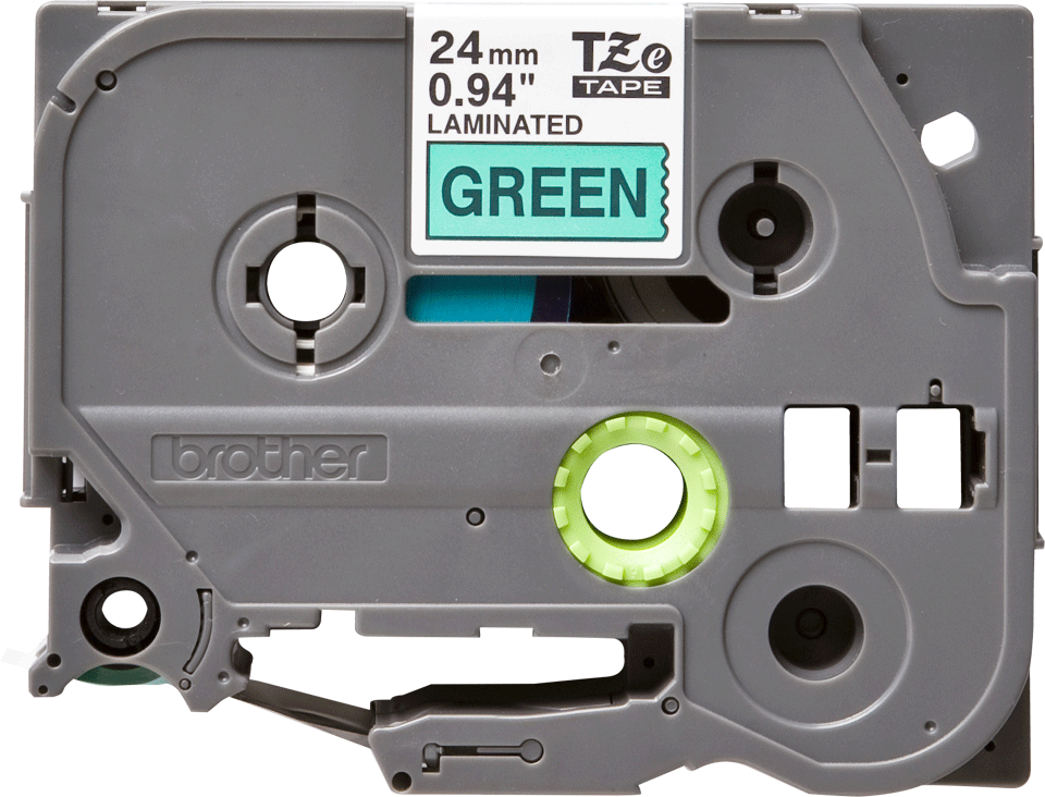 Brother TZe-751 Schriftband – schwarz auf grün 3