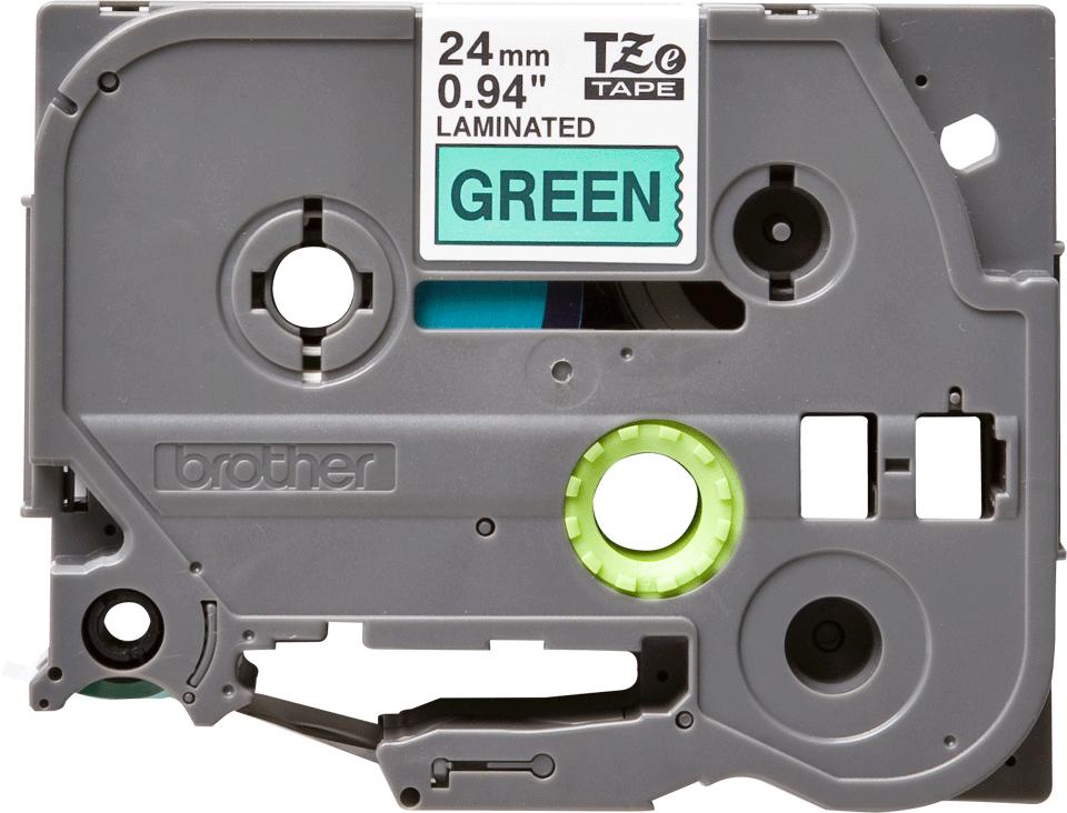 Brother TZe-751 Schriftband – schwarz auf grün
