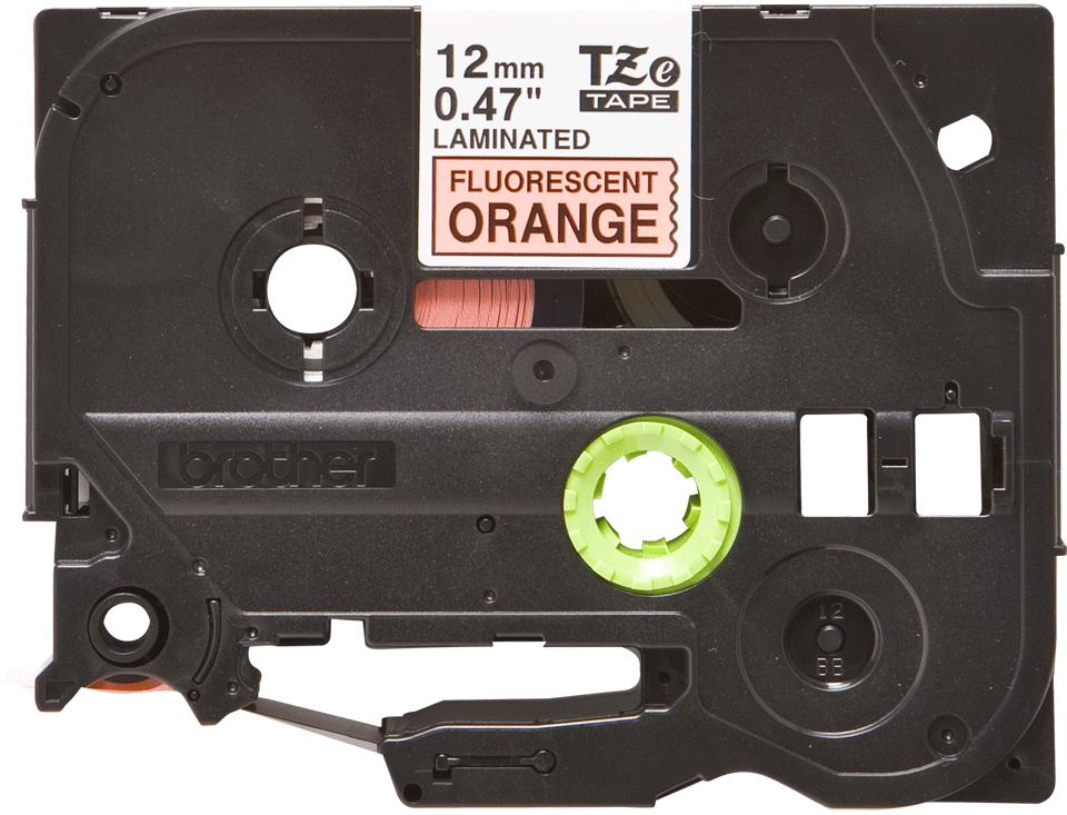 Brother TZe-B31 Schriftband – schwarz auf signal-orange 3