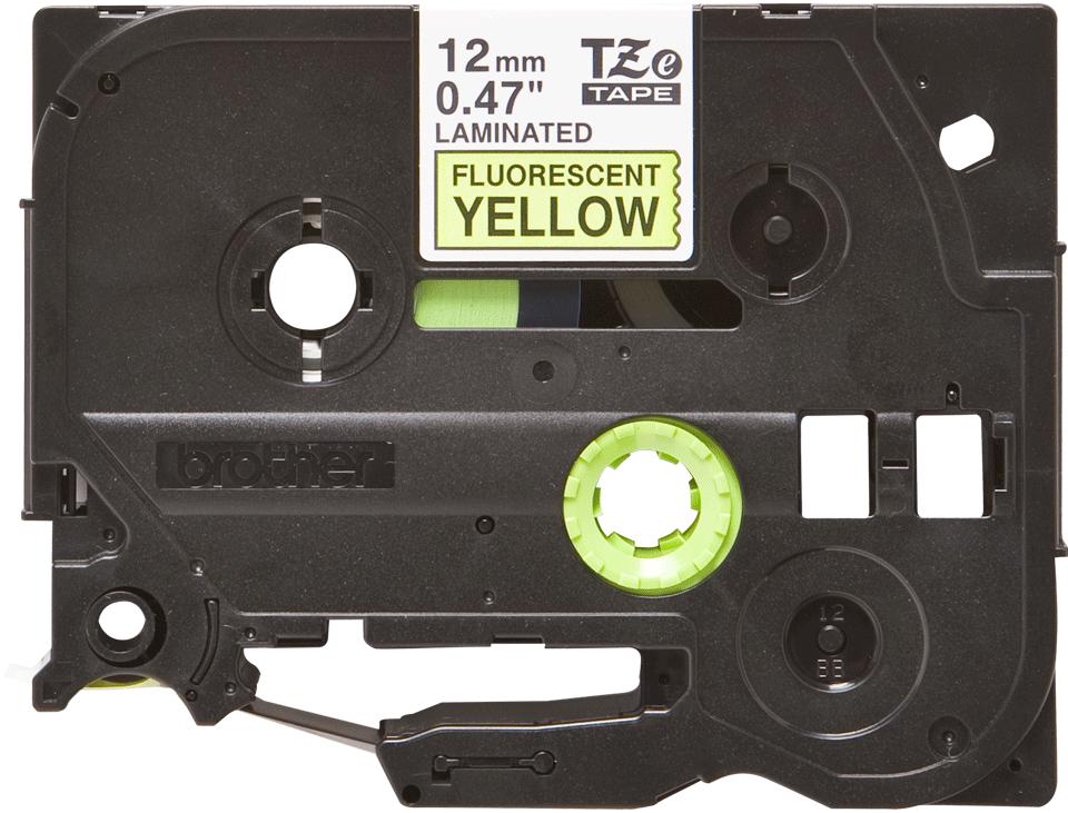Brother TZe-C31 Schriftband – schwarz auf signal-gelb 0