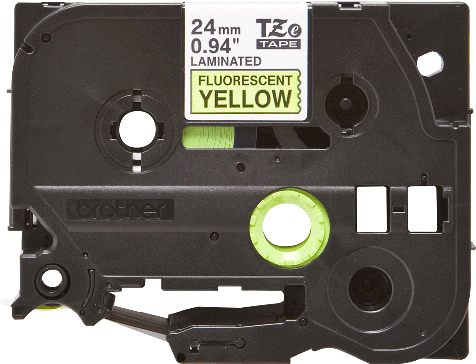 Brother TZe-C51 Schriftband – schwarz auf signal-gelb 3