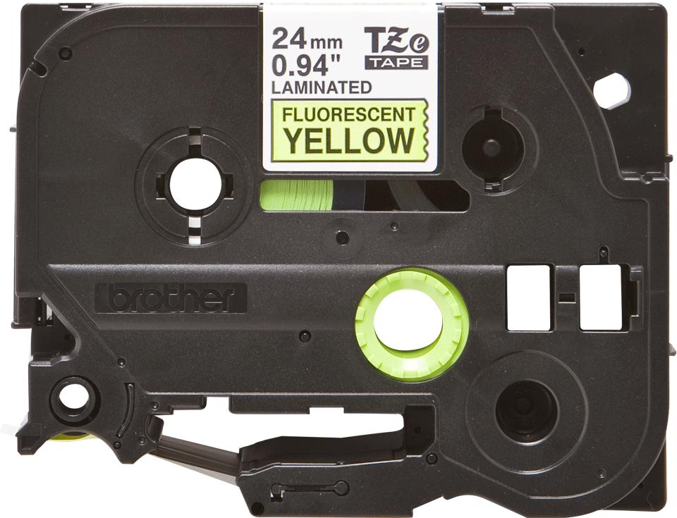 Brother TZe-C51 Schriftband – schwarz auf signalgelb 3