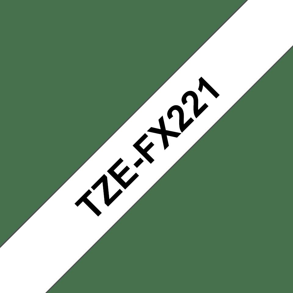 Brother TZe-FX221 Flexi-Tape – schwarz auf weiß 2