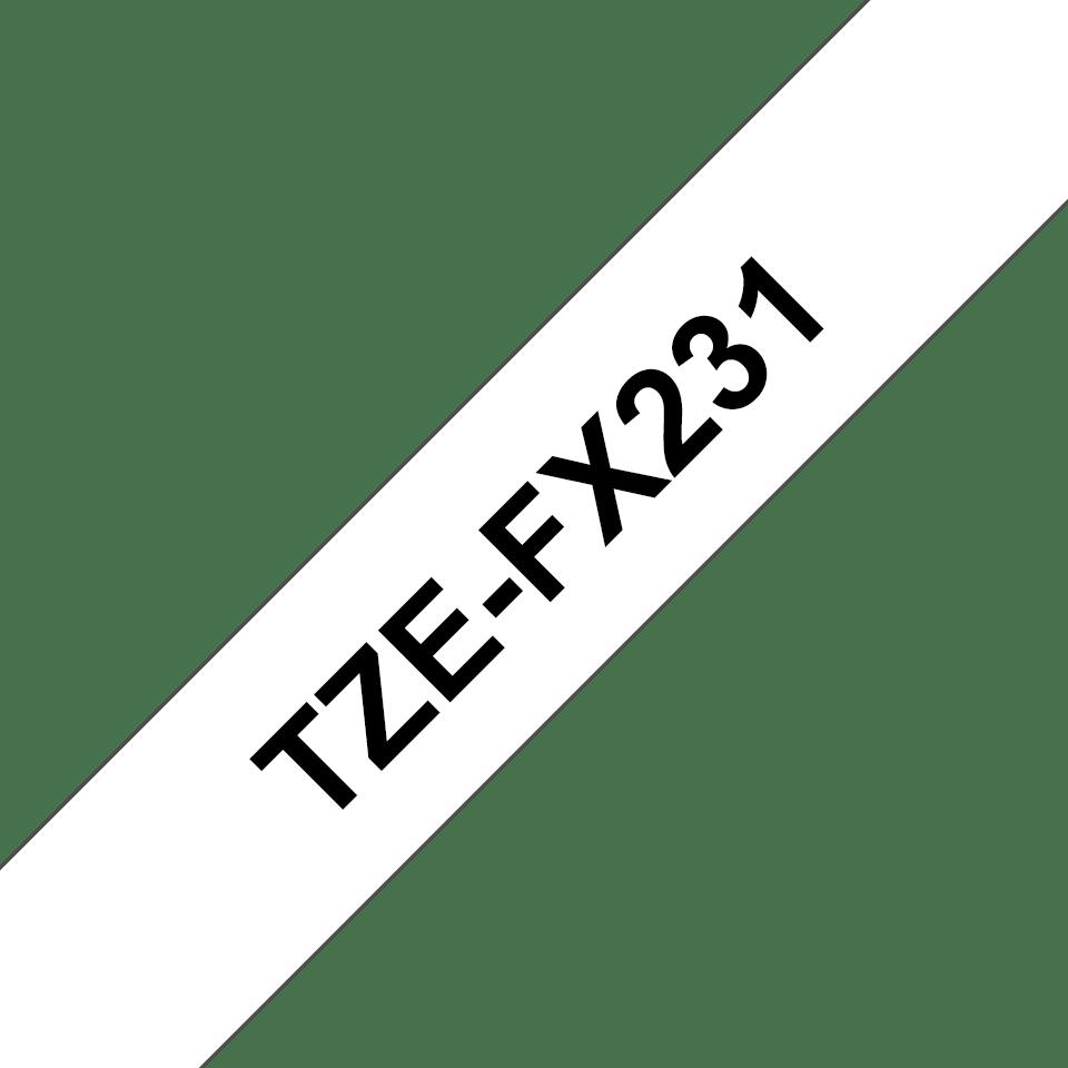 Brother TZe-FX231 Flexi-Tape – schwarz auf weiß 2