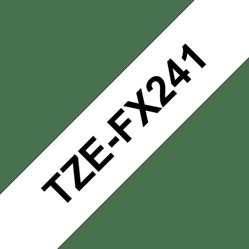 Brother TZe-FX241 Flexi-Tape – schwarz auf weiß 2