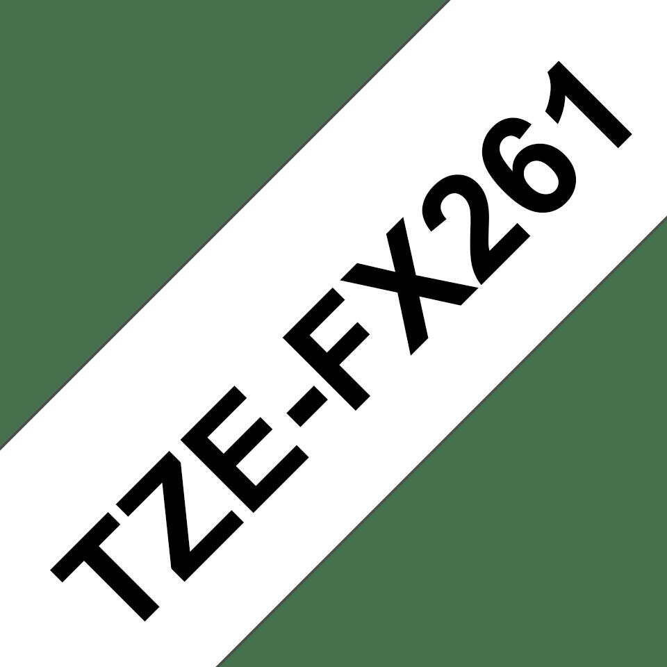 Brother TZe-FX261 Flexi-Tape – schwarz auf weiß 2