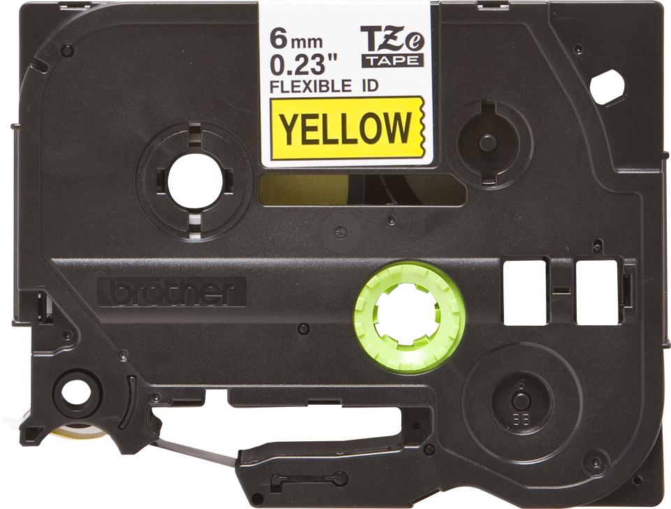 Brother TZe-FX611 Flexi-Tape – schwarz auf gelb 0
