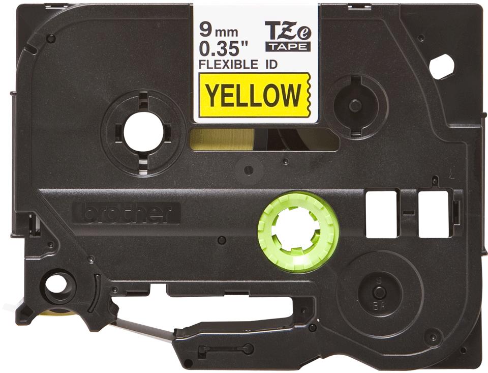 Brother TZe-FX621 Flexi-Tape – schwarz auf gelb 3