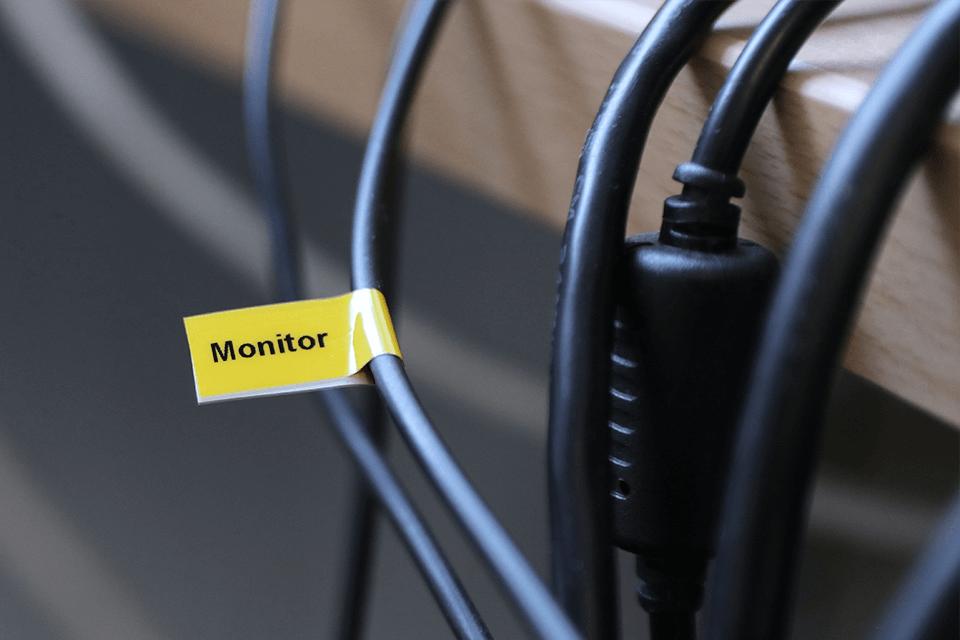 Brother TZe-FX621 Flexi-Tape – schwarz auf gelb